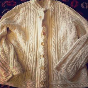 L.L. Bean 100% Cotton White Women's Sweater